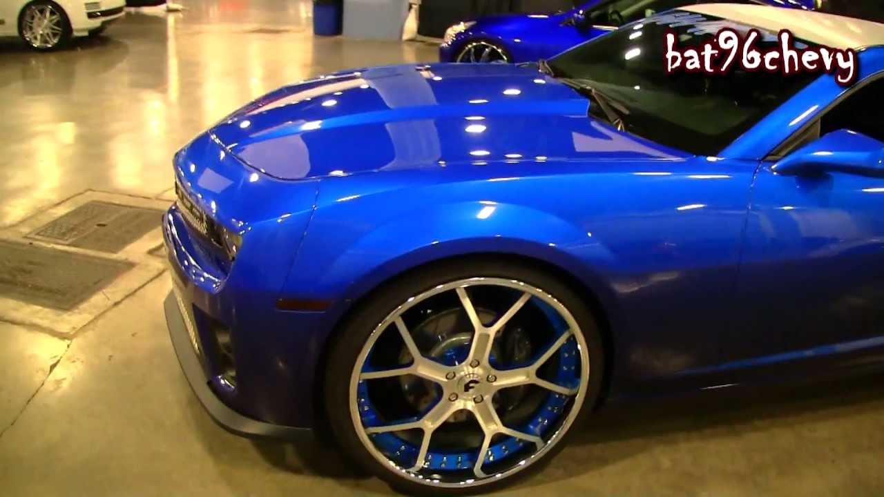 Candy Blue Chevy Camaro Ss On 24 Quot Forgiatos Forgiato