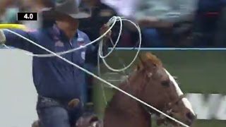 Simpson & Buhler win with 4.0 | NFR 2016 | Team Roping | Round 5