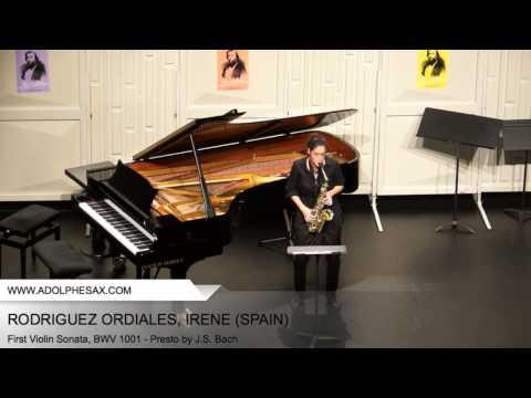 Dinant 2014 - RODRIGUEZ ORDIALES Irène (First Violin Sonata, BWV 1001 - Presto by J.S. Bach)