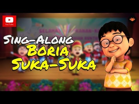 Upin & Ipin - Boria Suka-Suka (With Lyric)