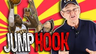 JUMP HOOK Basketball Shot! Low Post Move Tutorial- Shot