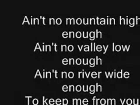 Marvin Gaye - Ain't No Mountain High Enough Lyrics ...