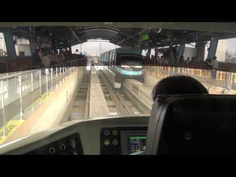 PORSCHE MONORAIL DRIVER CABIN VIEW COVERAGE WITH AN AMAZING TERMINATION AT CHEMBUR STN IN MUMBAI