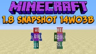 Minecraft 1.8 Snapshot 14w03b: New Skin Feature, Clone