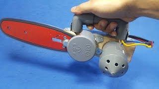 Chế Cưa Xích Mini Từ Motor 775 và Ống Nhựa PVC