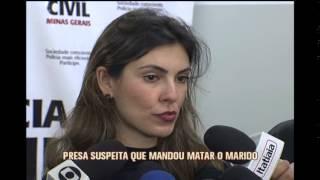 Mulher suspeita de mandar matar o marido � apresentada pela pol�cia em BH