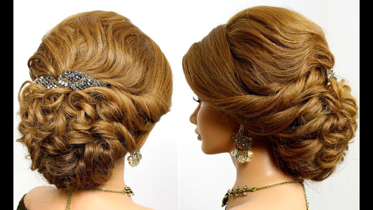 Прически на длинные волосы для женщин 55 лет