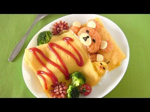 How to Make Rilakkuma Omurice (Recipe) リラックマ オムライスの作り方 (レシピ), This recipe is very easy. I used just a few simple ingredients available around you. But the only thing you need is patience! hehe Rilakkuma (which means rel...