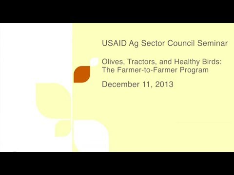 Ag Sector Council Seminar | DeAnn McGrew & Melina Dumas | Olives, Tractors, & Healthy Birds
