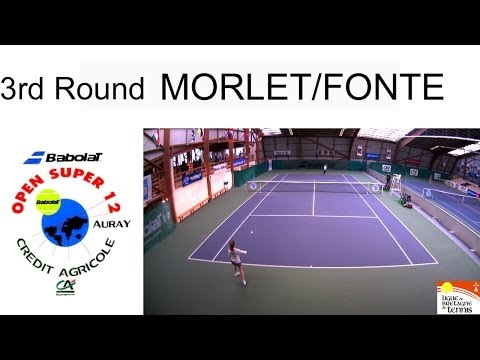 Victory of Morlet (FRA) over Fonte (POR) (6/1 6/1) - Open Super 12 Auray Tennis- Girls Single