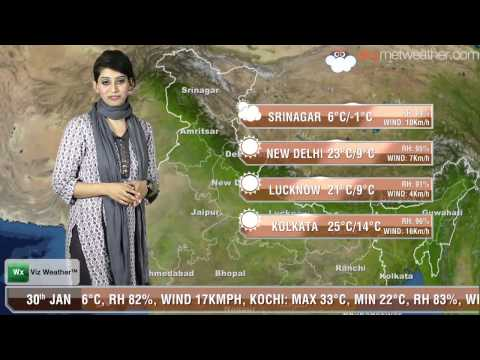 30/01/14 - Skymet Weather Report for India