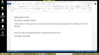 How To Activate Your Window 8 Enterprise Evaluation For 90