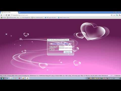 Cách đăng nhập VietSchool online 2012