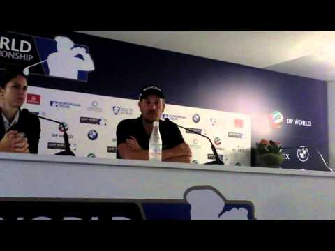 Henrik Stenson (pt4) after winning the 2013 DP World Tour Championship, Dubai