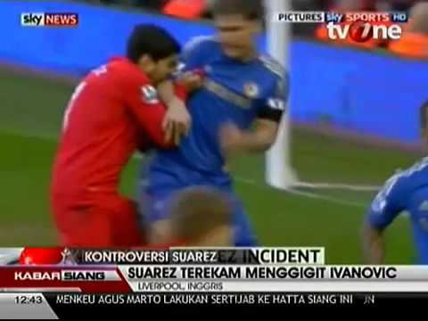 VIDEO SUAREZ GIGIT IVANOVIC Liverpool vs Chelsea 2 2 Aksi Brutal Luis Suarez   YouTube