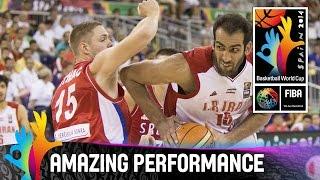 Hamed Haddadi - Amazing Performance - 2014 FIBA Basketball World Cup