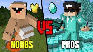 Extremly STUPID Noobs VS. EPIC Pros - Minecraft