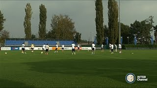 ALLENAMENTO INTER REAL AUDIO 01 10 2014