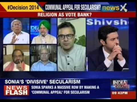 India Debates: By appealing to Muslims for voting for the Congress is Sonia dividing to unite ?