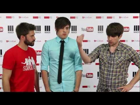 Smosh backstage at Vidcon 2012