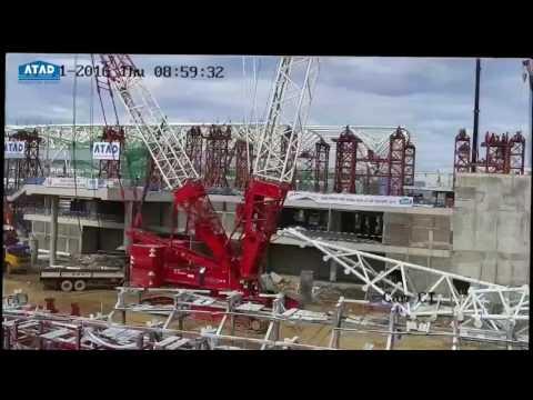 Lắp dựng mái vòm Nhà ga quốc tế Đà Nẵng | TASECOLAND