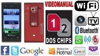 1-Video Manual Configuracion Celular Chino C5000,Wifi,Dual