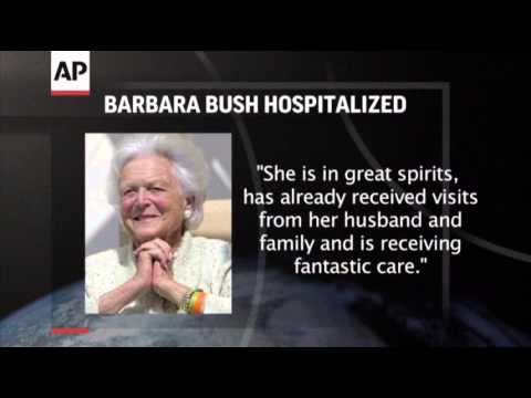 Barbara Bush Hospitalized in Houston