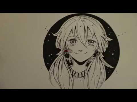 Manga drawing and inking tutorial!