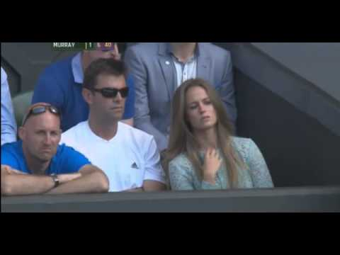 Andy Murray wins 2nd set against Novak Djokovic Final Wimbledon 2013