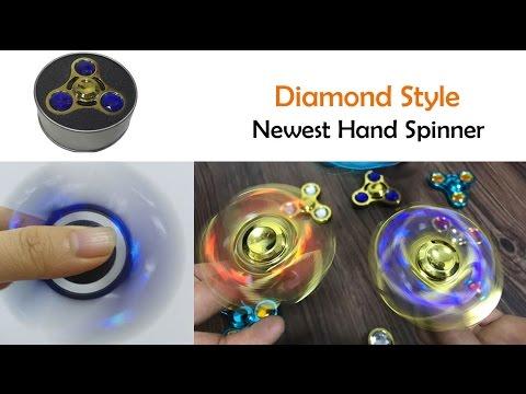 Diamond style Fidget Hand Spinner Toy High Speed 360 Degree Torqbar