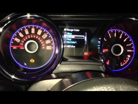 2014 Mustang Gt Interior Lighting Youtube