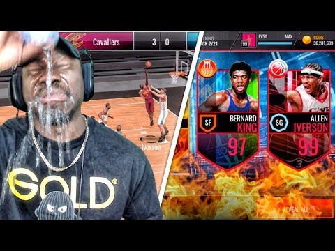 99 OVR ALLEN IVERSON ON FIRE & HOT SUMMER PACK OPENING! NBA Live Mobile Gameplay Ep. 138