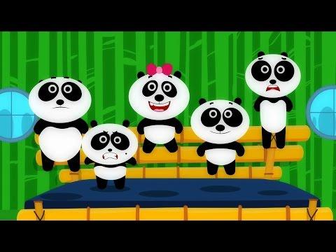 FIve Little Pandas | nhạc thiếu nhi vui nhộn | hoc tieng anh qua bai hat