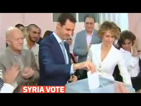 mitv - Bashar al-Assad casts vote in Syrian presidential election