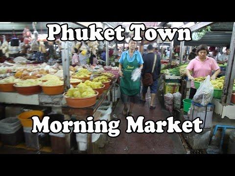 Phuket Town Morning Market. Phuket Island Thailand.