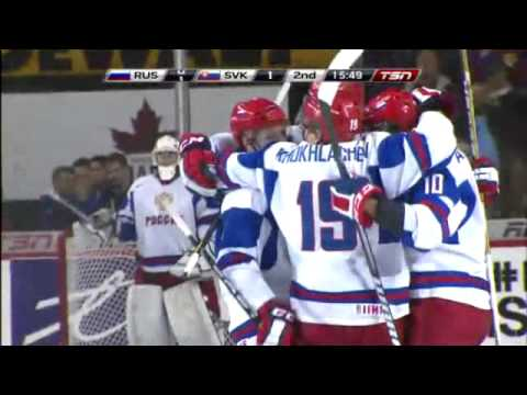 World Junior Championships 2012: Russia - Slovakia [RUS-SVK] 3-1