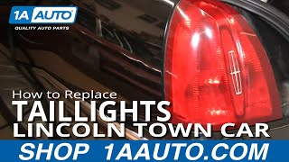 How To Install Repair Replace Broken Taillight Lincoln