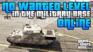 GTA 5 How To Get Inside The Military Base With No Wanted