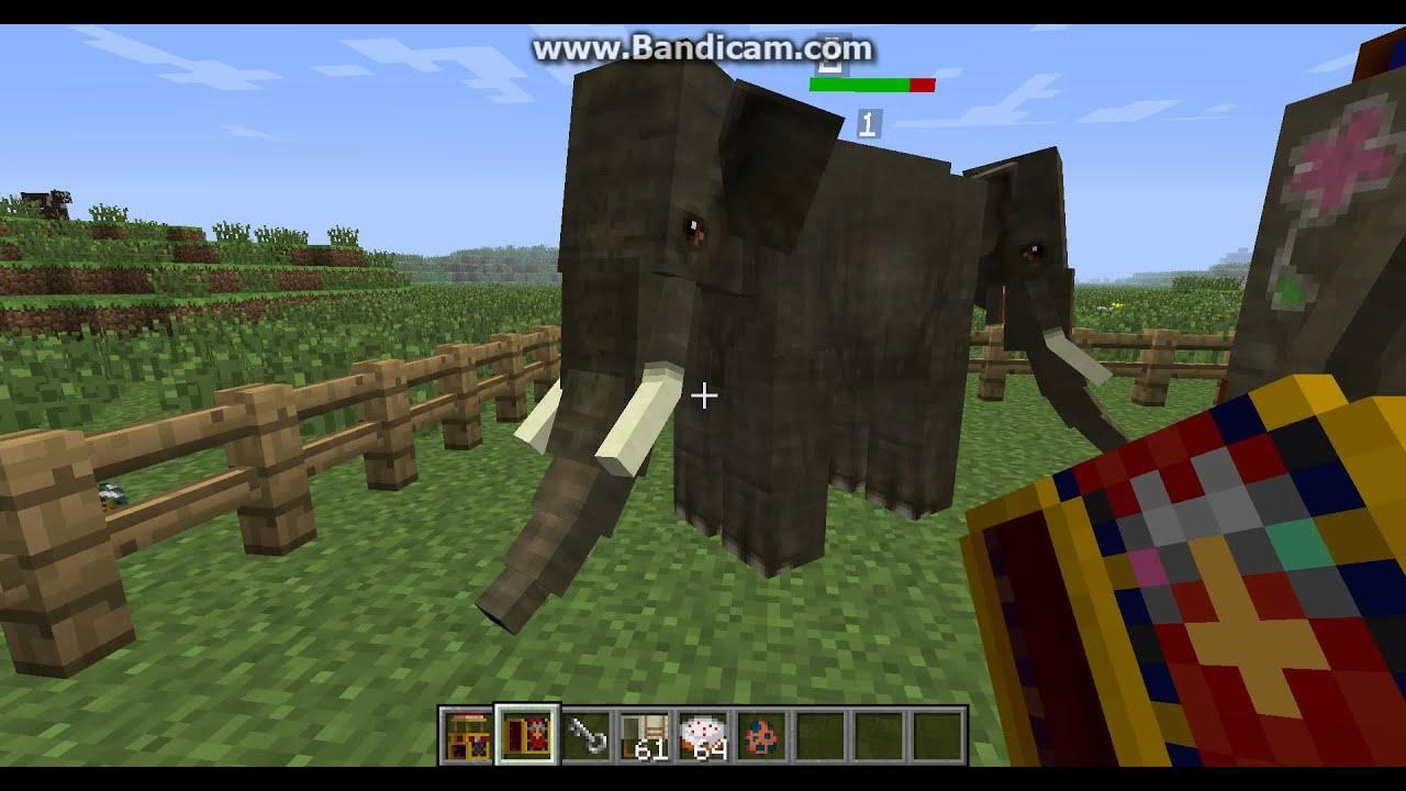 Minecraft Mo Creatures Elefanten Z 228 Hmen Und Reiten Youtube