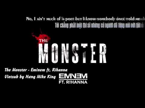 [Lyrics - Vietsub] The Monster - Eminem ft. Rihanna