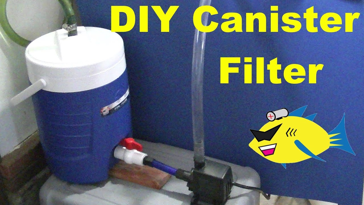 Homemade aquarium filter system homemade free engine for How to make ice in a fish tank