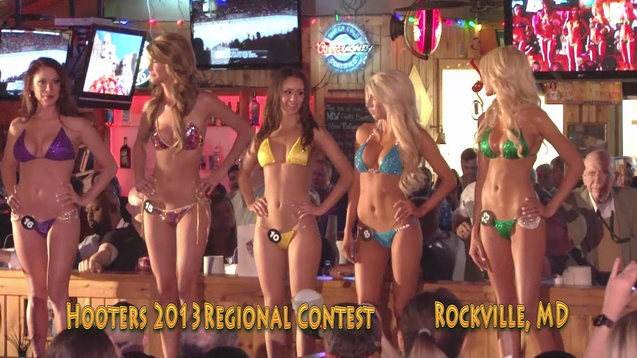 Hooters 2013 VA MD Regional Swimsuit Contests - YouTube