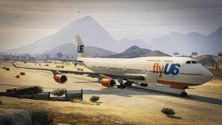 GTA V / GTA 5 STORY MODE JUMBO PLANE A380 FLYING SESSION