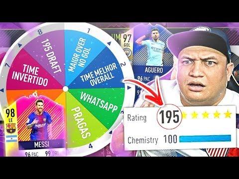 FUT DRAFT 195!? A ROLETA DO DRAFT ANUNCIOU O DESAFIO! 😱🔥 FIFA 18