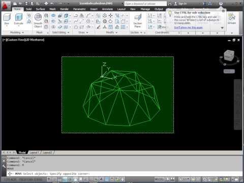 AutoCAD 3D Basics Tutorial 4 - UCS Control - Exercise 2