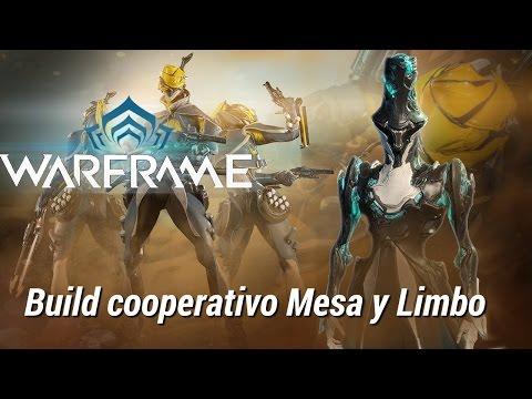 Warframe build cooperativa de Limbo y Mesa