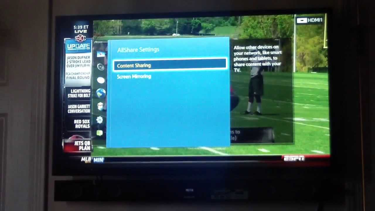 2013 samsung smart tv screen mirroring a s4 with no dongle