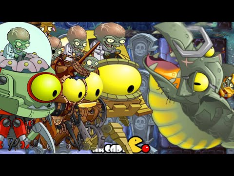 Plants vs Zombies 2 It's About Time: Dark Ages Part 2 Zombot Dark Dragon, ALL 5 World Zomboss Battle