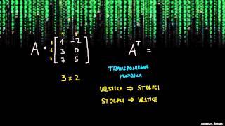 Matrike – transponiranje