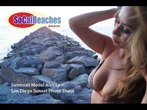 Sexy Latina Swimsuit Model Sunset San Diego